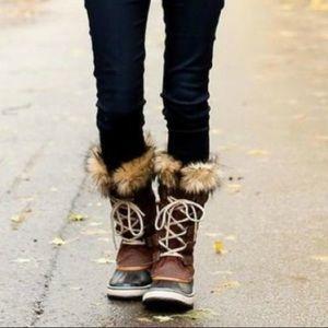 Like new 9 brown suede waterproof Joan of Arc boot